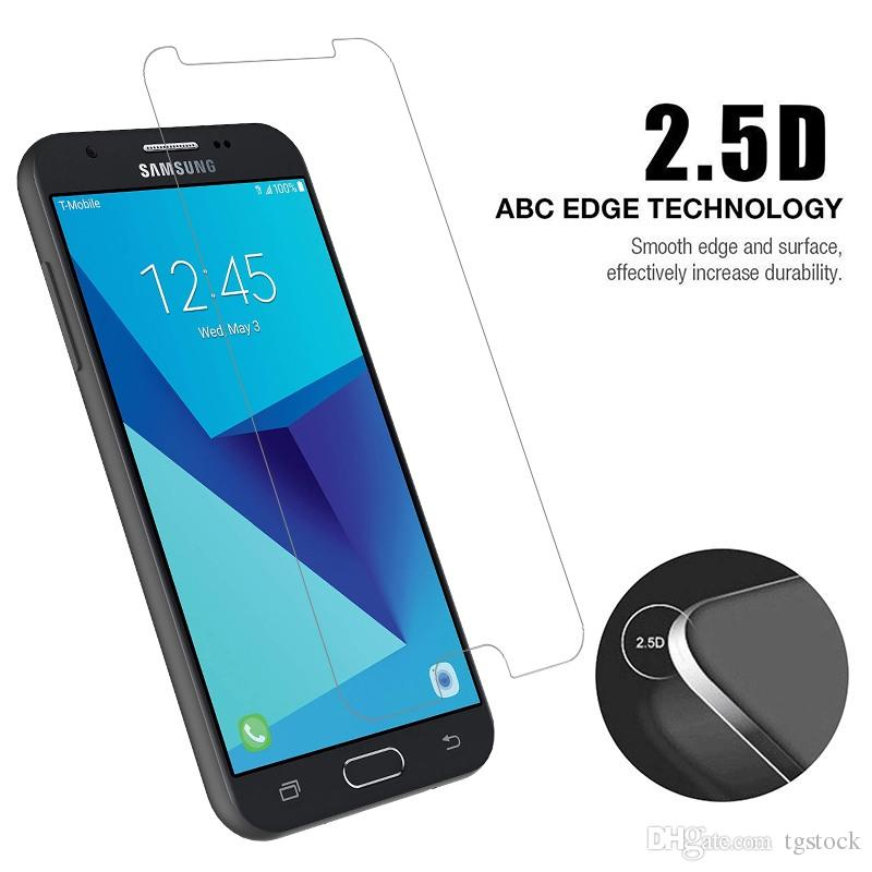 2 5D Curved For Samsung J7 Perx J727P Regular Tempered Glass T Mobile Revvl  Plus Clear Screen Protector Film With Retail Package Cellphone Screen