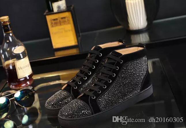 new product 89427 dd44e Acquista Original Box Top Luxury Brand Bottom Red Sneaker Loubs Red Sole  Diamond Red Bottom Sneakers Uomo   Donna Scarpe Da Sposa Matrimonio A   79.88 Dal ...