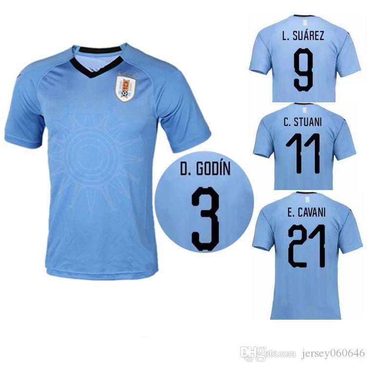 2019 Uruguay 2018 World Cup Soccer Jerseys SUAREZ Uruguay National Football  Shirt CAVANI GODIN FORLAN Camiseta STUANI GONZALEZ Maillot From  Jersey060646 b78ce9fe3
