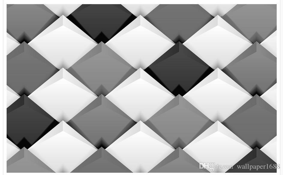 3d Geometric Modern Minimalist Tv Background Wall Wallpaper For Walls 3 D For Living Room