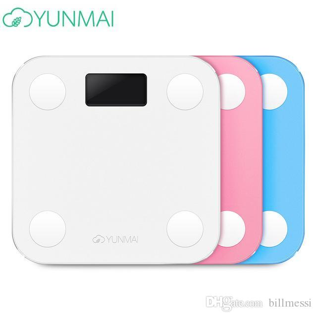56978f9862ac YUNMAI Hot Bathroom Smart Mini YUNMAI Scale BMI Digital Body Fat Scales  Clever Electronic Human Weight Mi Scales Steelyard LCD Display TB