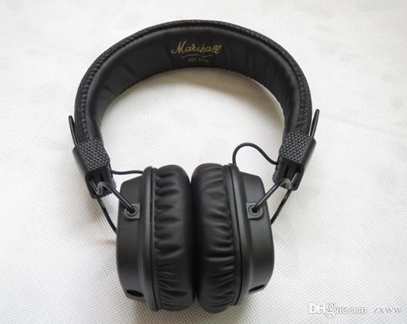Marshall Major II 2 2ª Geração de Fones De Ouvido Com Cancelamento de Ruído Fone de Ouvido Profundo Bass Studio Monitor de Rock DJ HiFi fone de ouvido Preto Marrom