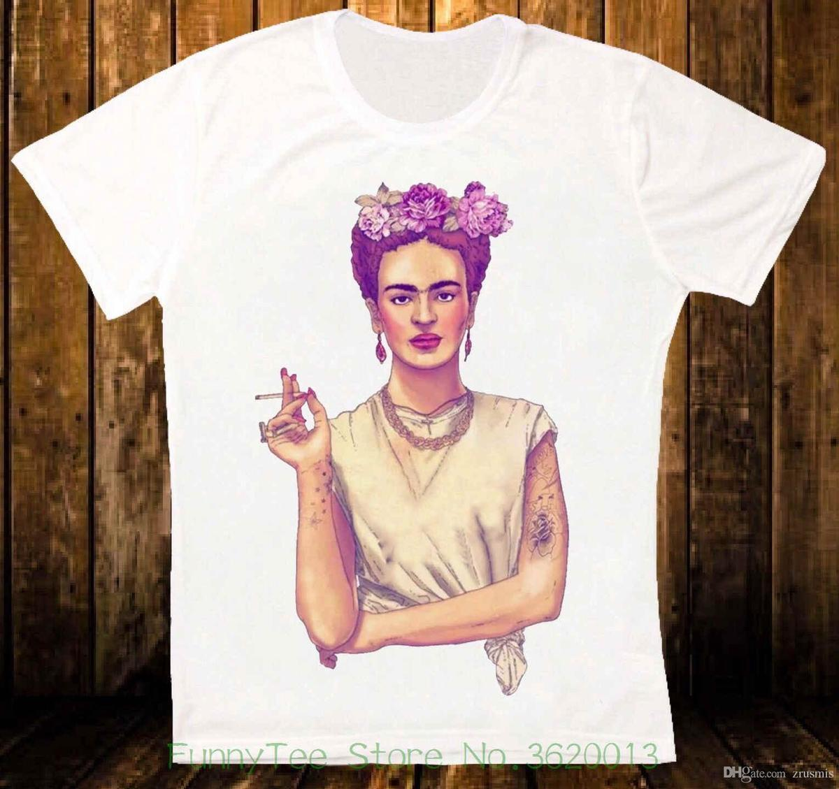b2d1de1a8 Vrouwen Tee Frida Kahlo Art Retro Vintage Slip Taille Basse Unisexe T Shirt  201 Katoen Plus Size Fashion Top Tees Shirts And T Shirts Buy Cool T Shirts  From ...