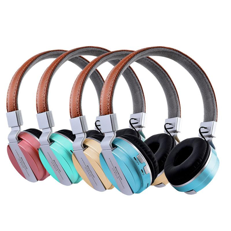 08c02af8384 AT BT819 Foldable Noise Cancelling Wireless Bluetooth Headphones FM Radio  Headset With Mic For Android Ios 3.5mm Aux TF Card MP3 Wireless Headphone  Dj ...