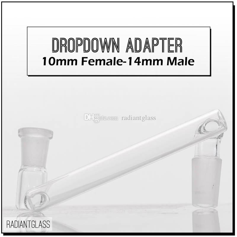 "Drop down adapter reclaimer 3.5"" Male to Female 10mm/14mm/18mm glass Dropdown Adapter glass oil rigs adapters wholesale"