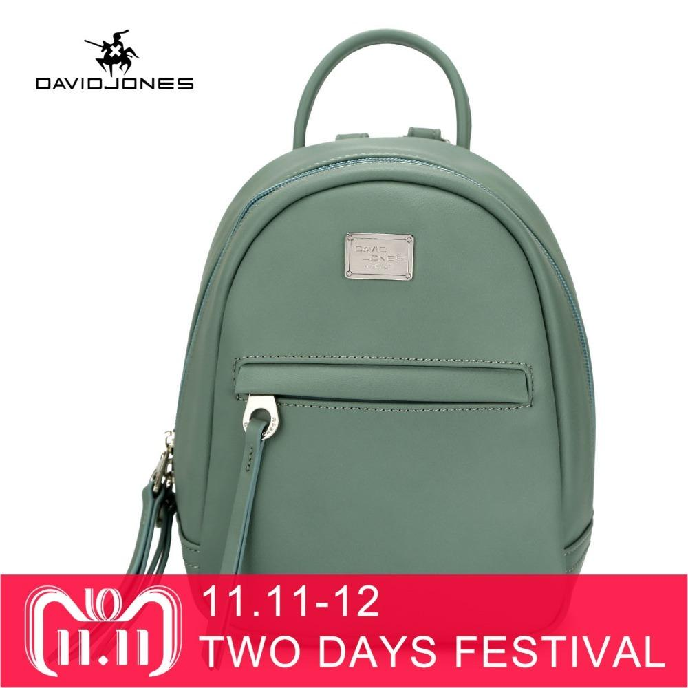 ef0f45d581 2019 FashionDAVIDJONES Women Shoulder Bags Faux Leather Female Backpacks  Small Lady Travel School Bag Girl Brand Softpack Drop Shipping Backpack  With Wheels ...