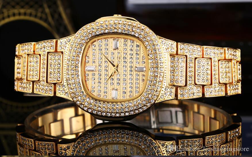 Sportuhr Damen Rosegold : Großhandel top marken 38mm papagei uhr diamant rose gold uhr luxus