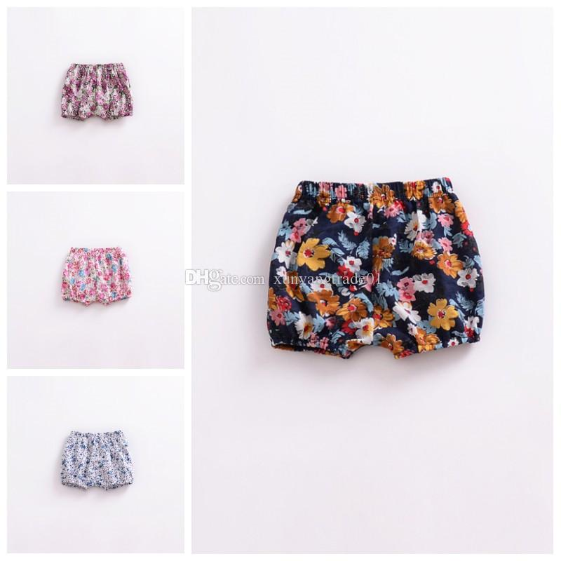 ea5a150ad9d Baby Girls Shorts Toddler PP Pants 2018 Summer Cotton Infant Floral Printed  Elastic Waist Short Trousers Children Kids Clothing Y75 Online with   3.64 Piece ...