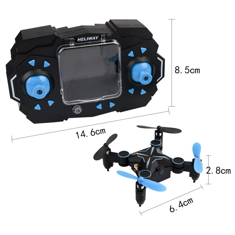 901HS Mini RC Drone with Camera Hold Altitude 6-Axis 2.4GHz Gyro Quadcopter Wifi FPV Foldable Remote Control Helicopter Toys