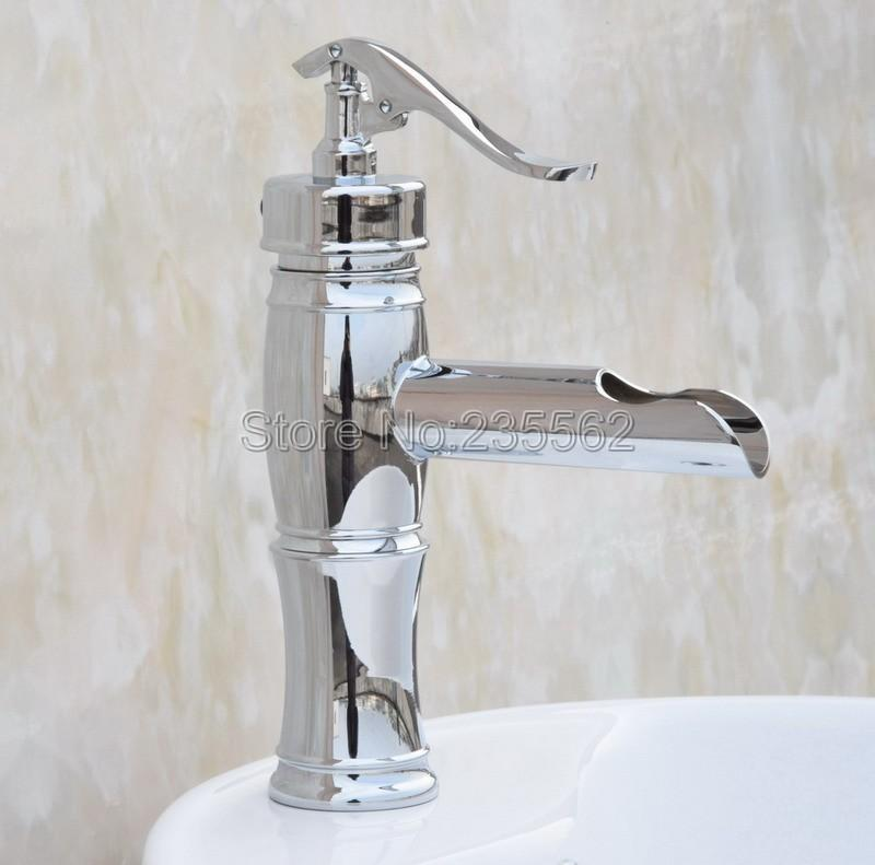 Delicieux 2018 Polished Chrome Water Pump Look Style Bathroom Washbasin Faucet Vessel  Sink Faucets Cold And Hot Mixer Tap Lcy021 From Qinqinmeling, $104.51 |  Dhgate.