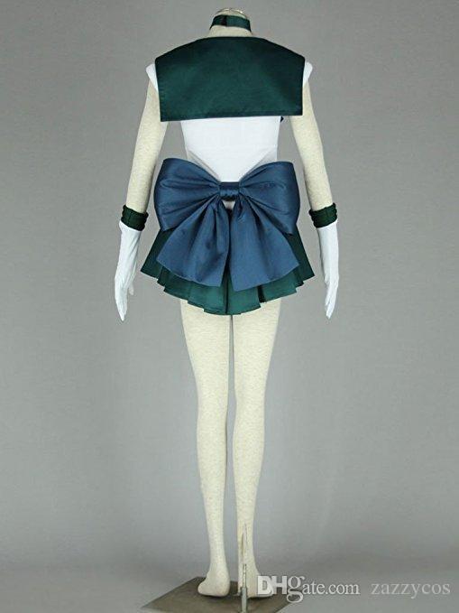 Sailor Moon Michiru Kaioh Neptune Cosplay Costume Outfit Uniform Dress