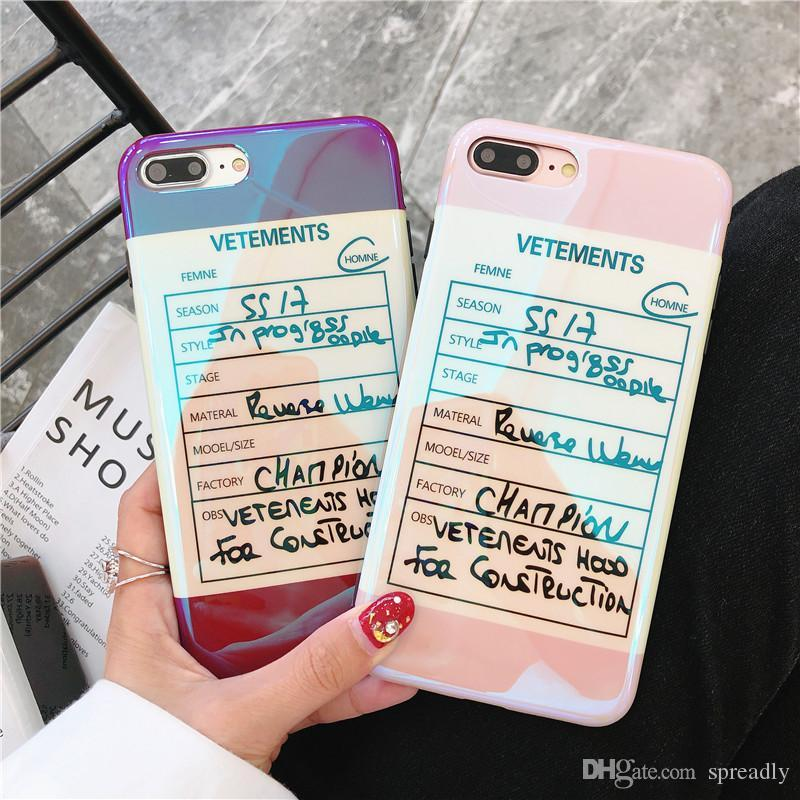 2018 Hot Sale Personality Iphone7 Mobile Phone Shell Vetements Tide