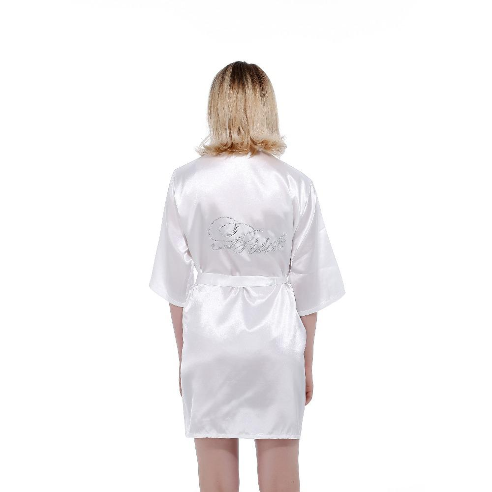 Best Robe Wedding Bride Women Sleepwear Nightwear White Bridal Dress ...