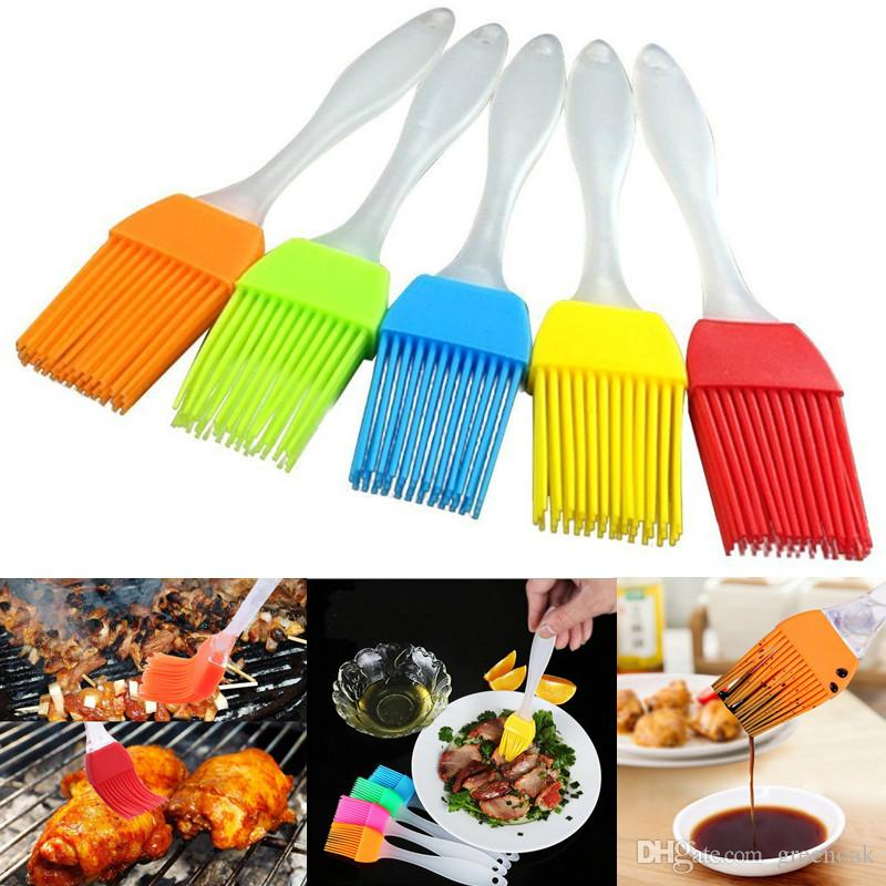 heat resistant silicone bbq oil brush turkey baster barbecue basting brushes for grilling marinating baking dishwasher safe kitchen utensils kitchen gadgets