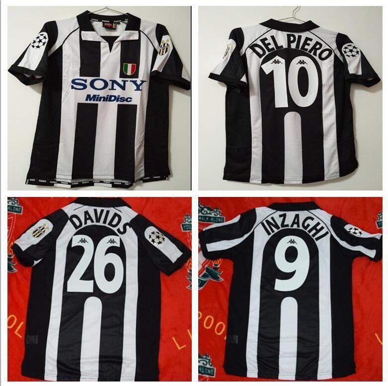 79ba70f436e 2019 97 98 Retro Soccer Jersey Vintage Conte Inzaghi  10 Del Piero 1997 1998  Italia Calcio MAGLIA Deschamps  21 Zidane Davids Football From  Bestsoccerclub