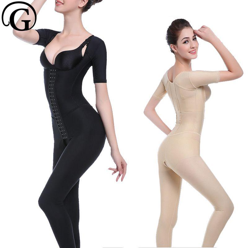b92bd11399 2019 Body Shaper Women Chest Binder Shape Wear Tummy Control Underwear  Onepiece Full Body Shapewear Butt Lifter Push Up Bra Bodysuit From Duanhu