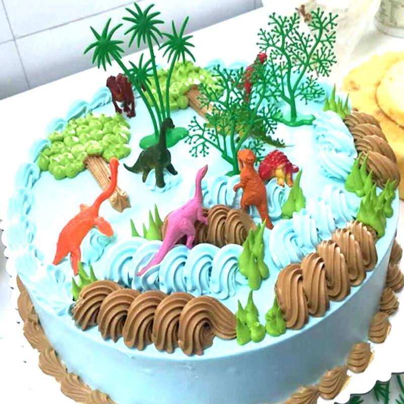 Super Großhandel 16 Teile / Satz DIY Dschungel Dinosaurier Kuchen #XJ_69