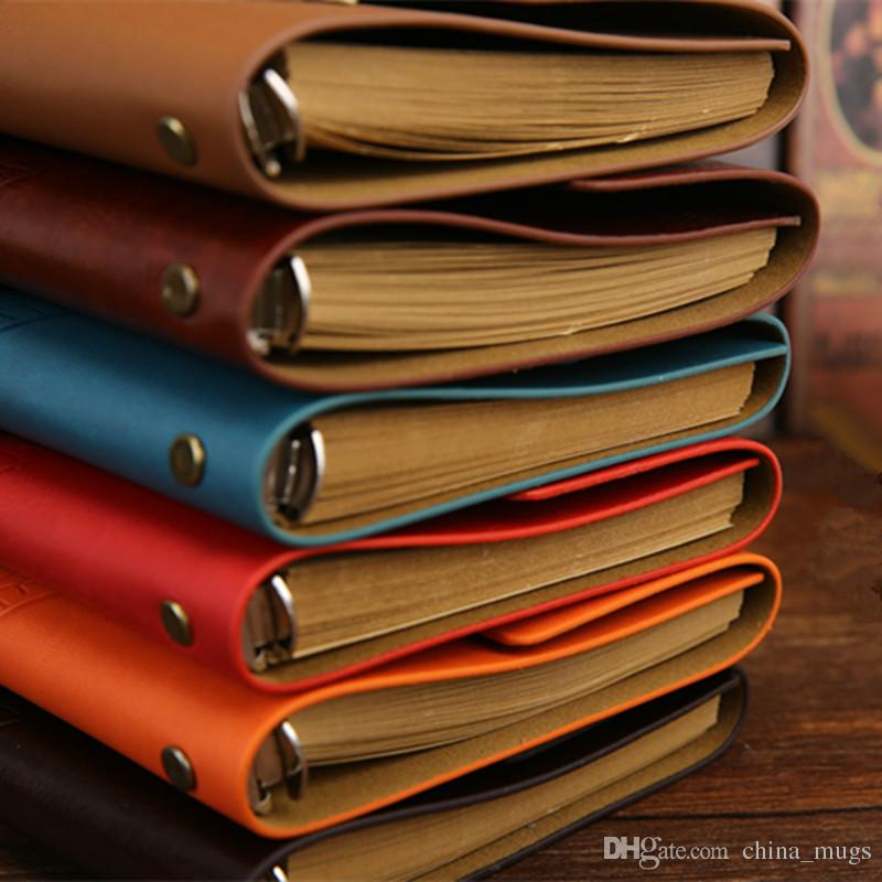 18.5*13cm Vintage Diary Notebook Pirate Anchor Decor Traveler's Note Books Notepad Planner 2018 PU Leather Cover Blank Notebooks