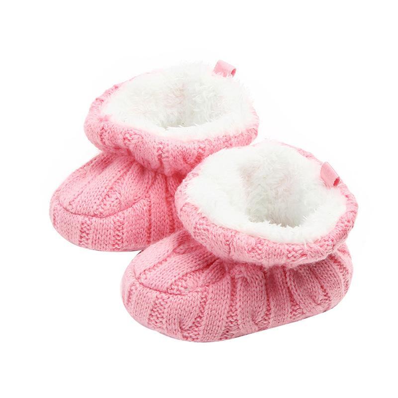 online store c9612 b7b3c Baby Stiefel Winter Feste Neugeborene Mädchen Schuhe Warme Gestrickte  säuglingsstiefel Indoor Babyschuhe Für Mädchen 0-12 Mt SO NETT