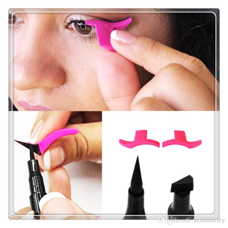 Eyeliner Stamps Cat Eye Wing Easy to Makeup Eyeliner Template Makeup Tools Liquid Eyeliner Stamp Makeup Tools Christmas Gift