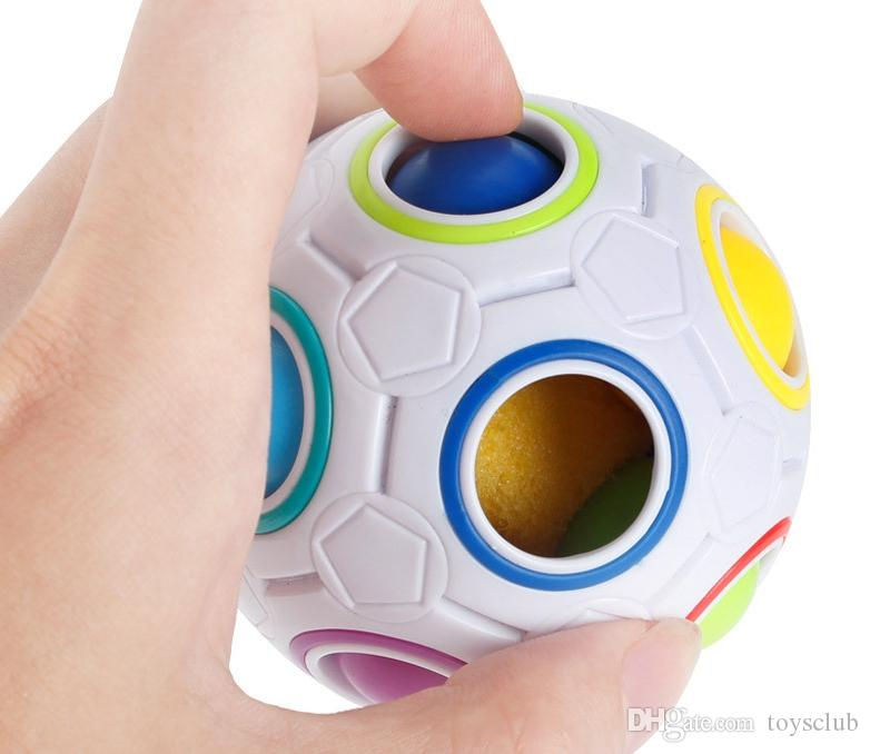 Rainbow Ball Magic Cube Speed Football Fun Creative Spherical Puzzles Kids Educational Learning Toys games for Children Gifts