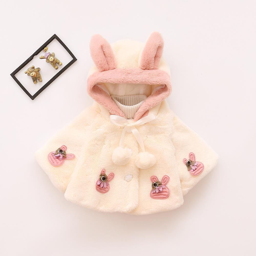 2e33886ce169 Autumn Winter Newborn Warm Jacket Baby Girl Fleece Cloak Cape Infant ...