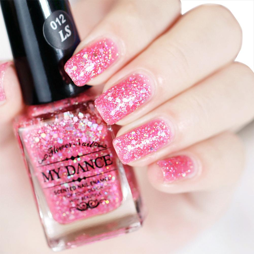 Shiny Sequins Glitter Nail Art Shimmer Varnish Polish Manicure 14ml