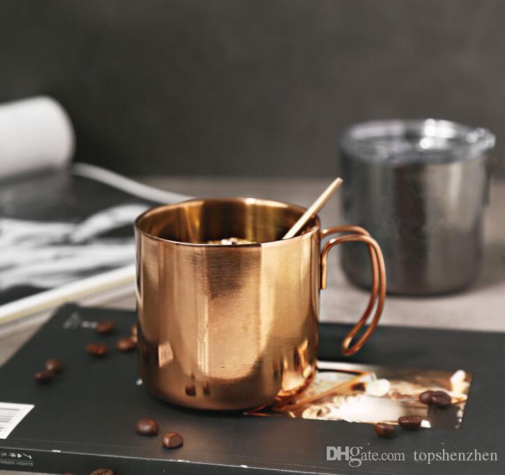 Kolu Ile 14oz Şarap Cam Bardak Kristal Net Kapaklar 400 ml Paslanmaz Çelik Çift Duvar Vakum Yalıtımlı Bira kupalar Kahve çay kupalar