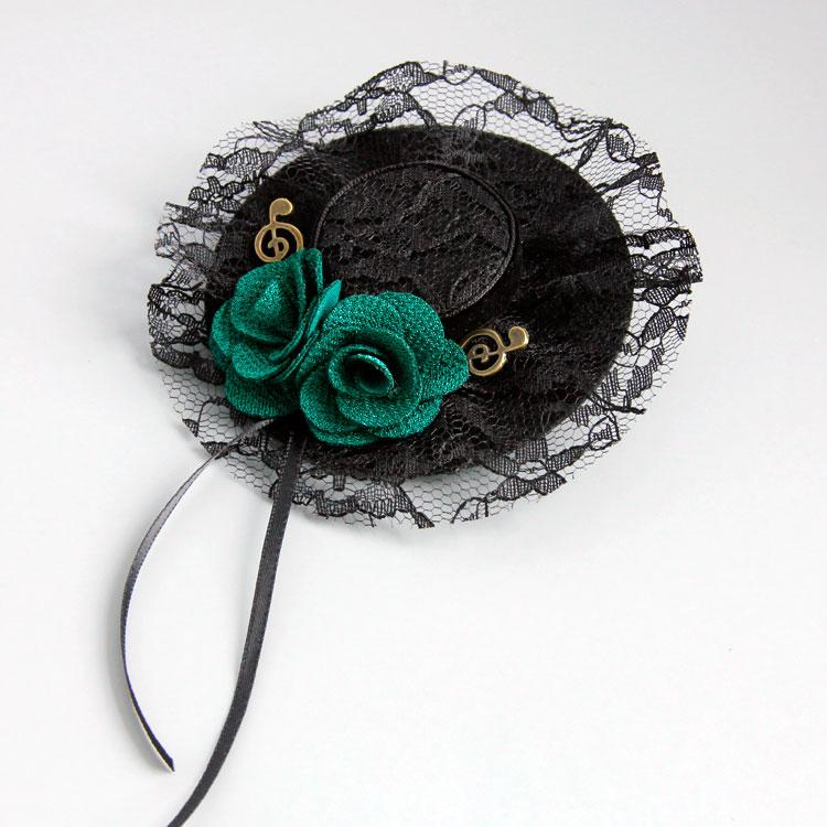 NEW Black Lace Mesh Hat Brooches Pin for Woman Deluxe Flower Collar Clip Good Scarf Clip Fashion Party Costume Accessories BR-47