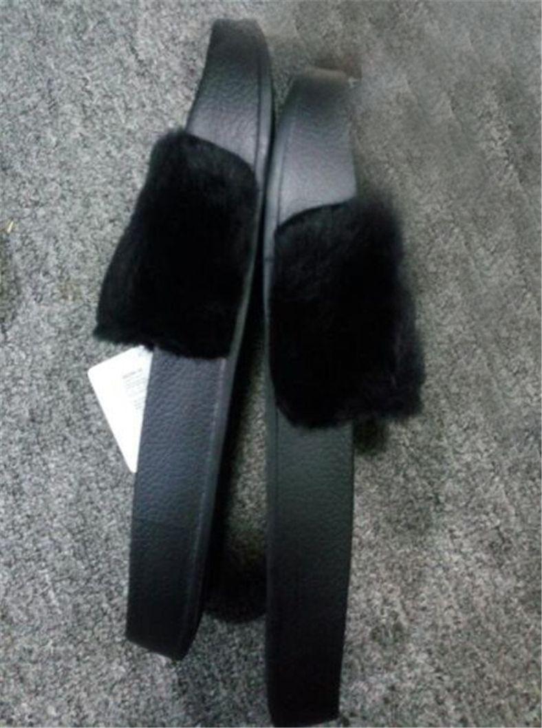 444cab156d0 Großhandel Hot Y1puma Rihanna Leadcat Fenty Kunstpelz Slide Sandale, Frauen  Klassische Fenty Pantoffeln Schwarze Slide Sandalen Fenty Slide Rot Gelb  Lila ...