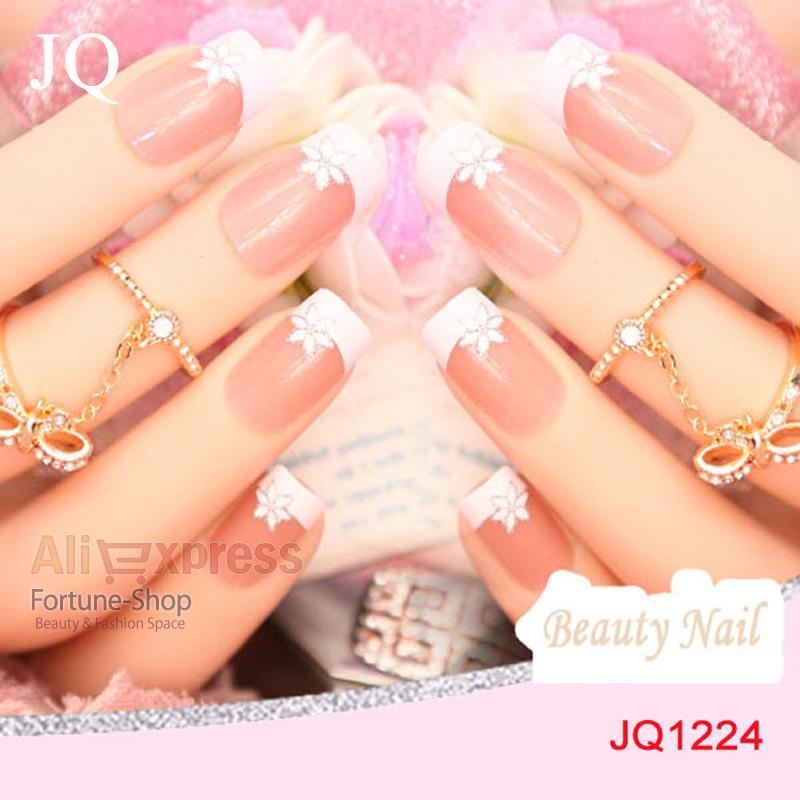 Jq Nails Tips French Pre Design 3d False Nails Tips Fake Nail French