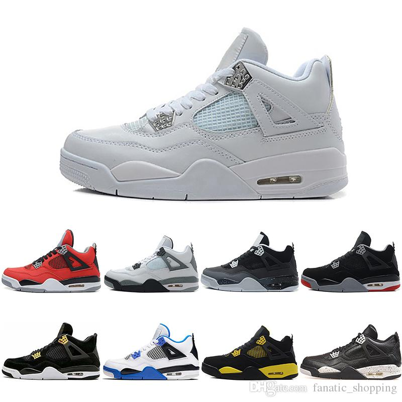 0a98973dbd9f18 4 Basketball Shoes Men 4s Black Cat Bred Cavs Cement Oreo Dunk From Above Royalty  Fear Pack Mars Blackmon Sports Shoes Sneakers Men Sneakers Sneakers Men ...
