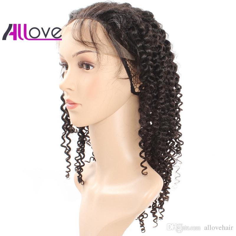 Full Lace Wigs Kinky Curly cheveux bouclés 180% densité naturelle délié Full Lace perruques pas cher 8A cheveux brésiliens péruvienne livraison gratuite