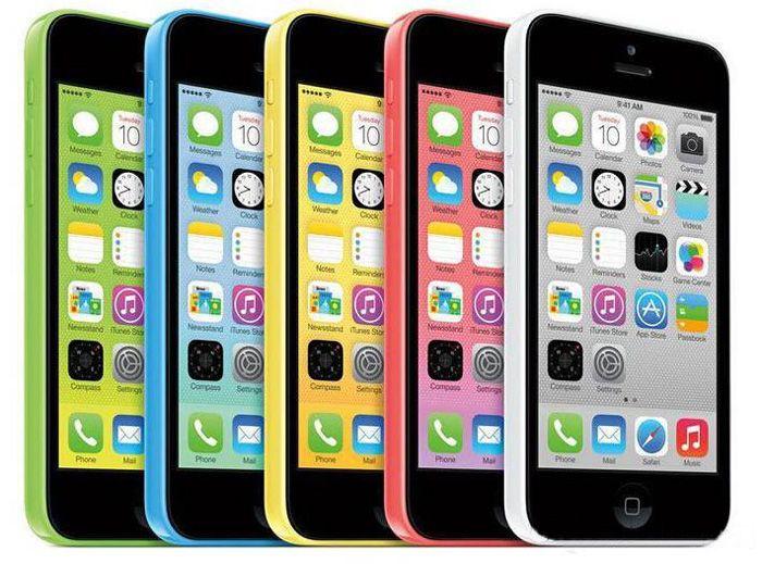 Original restaurado Desbloqueado Apple iPhone 5C Teléfonos 16GB 32GB de doble núcleo WCDMA + WiFi + GPS 8MP Cámara 4.0