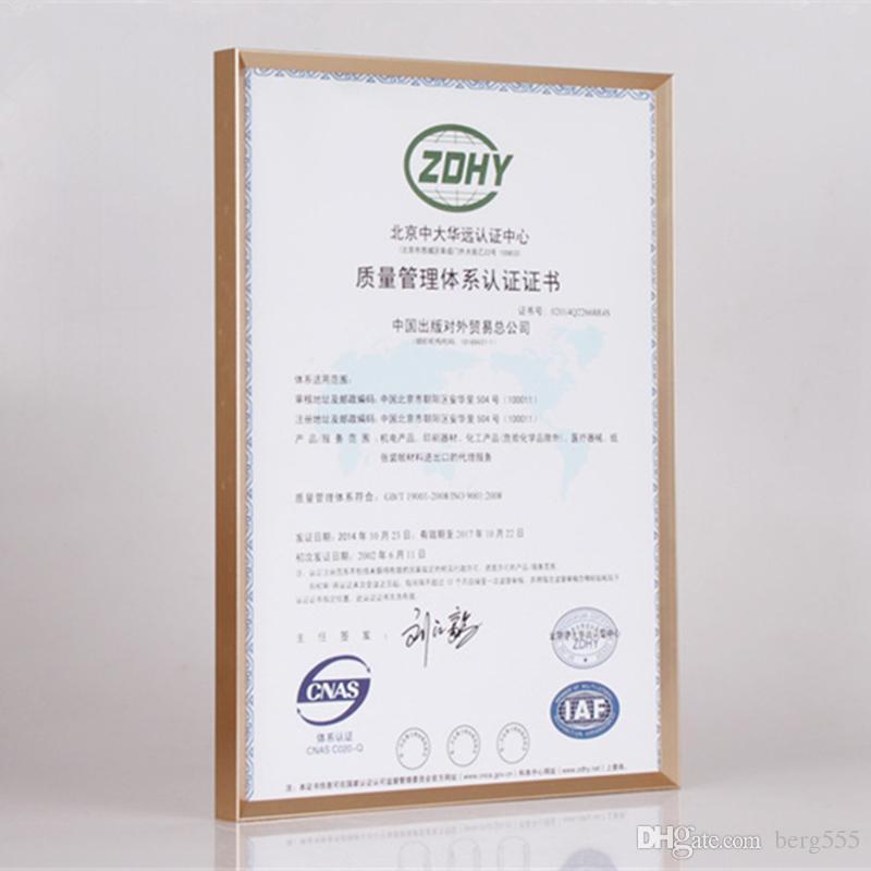2018 60*90cm Shiny Aluminum Certificate Frame Business License ...