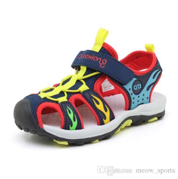 e7b8b28db Summer Kids Beach Shoes Brand Closed Toe Toddler Boys Sandals Orthopedic  Sport Baby Boy Sandals Shoes Childern Sneakers Toddler Girl Shoes Size 8  Cheap ...