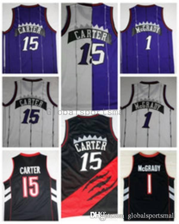 2018 Throwback 1 Tracy Mcgrady T Mac 15 Vince Carter Air Canada Stitched  Basketball Jerseys Cheap Vince Carter Basketball Shirts From  Globalsportsmall, ...