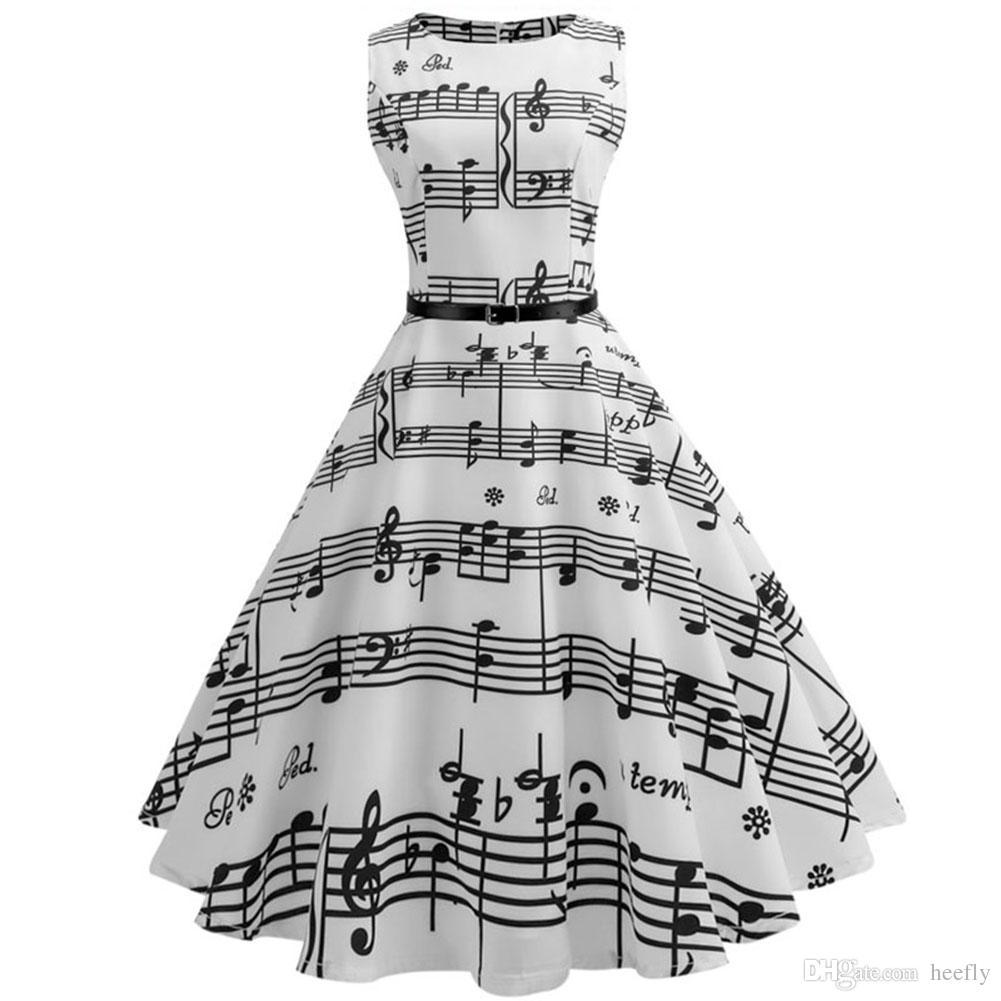 6fbd6cf963a Vintage Floral Print Pleated Dress Women Summer Vintage 50s 60s ...
