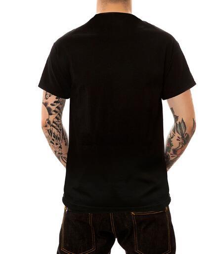 Gezeiten Marke, Pigalle europäischen und amerikanischen Männer großen Code plus Dünger erhöhen 3D Augen Katze runden Kragen lose T-Shirt