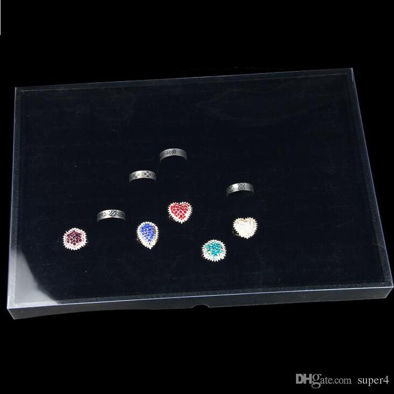 35,2 * 24,2 * 2,7 cm transparente de plástico bandeja de exhibición de la joyería joyería tapa tapa de la caja tapa transparente tapa de exhibición de la joyería plástica precio al por mayor