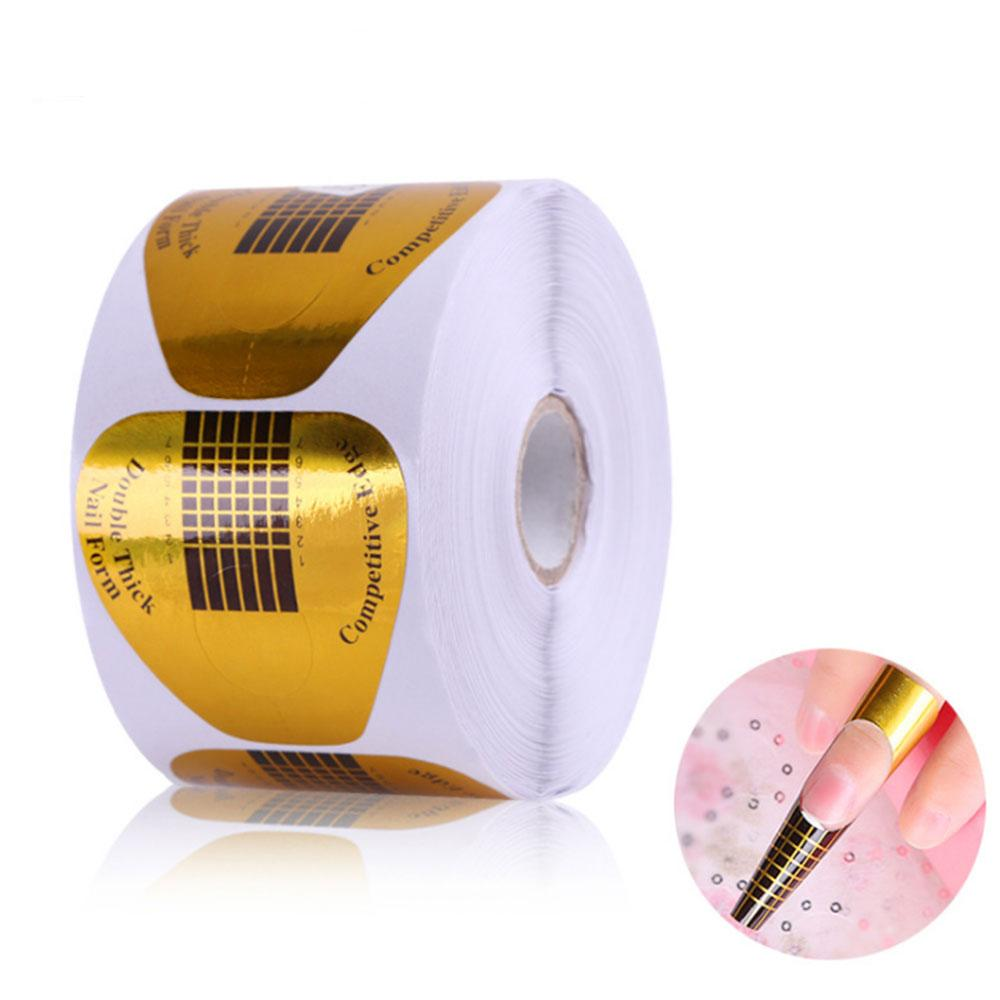Enjoyable Noq 500Pcs Support False Nails Form Golden Fingers Tablet Roll Beauty Crystal Care Nail Horseshoe Paper Holder Nail Care Best Image Libraries Counlowcountryjoecom