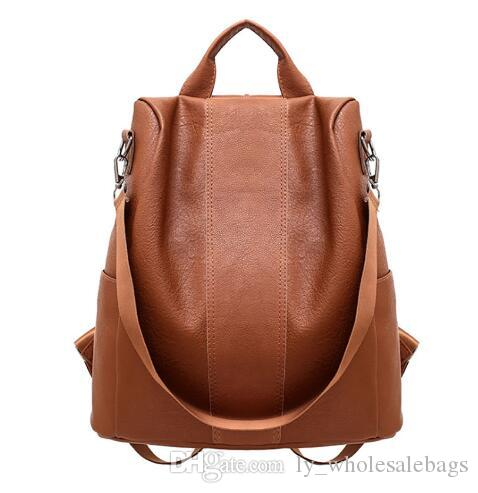 32b40237a2d8 2018 New Trendy Women Leather Backpack College Preppy School Bag For  Student Laptop Girls Ladies Daily Back Pack Shop Trip Backpacks For School  Laptop ...