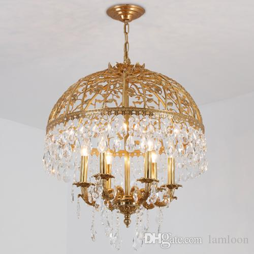 European style led crystal copper chandeliers light k9 crystal european style led crystal copper chandeliers light k9 crystal pendant chandelier penthouse hanging lamp hotel villa project chandelier shabby chic aloadofball Gallery