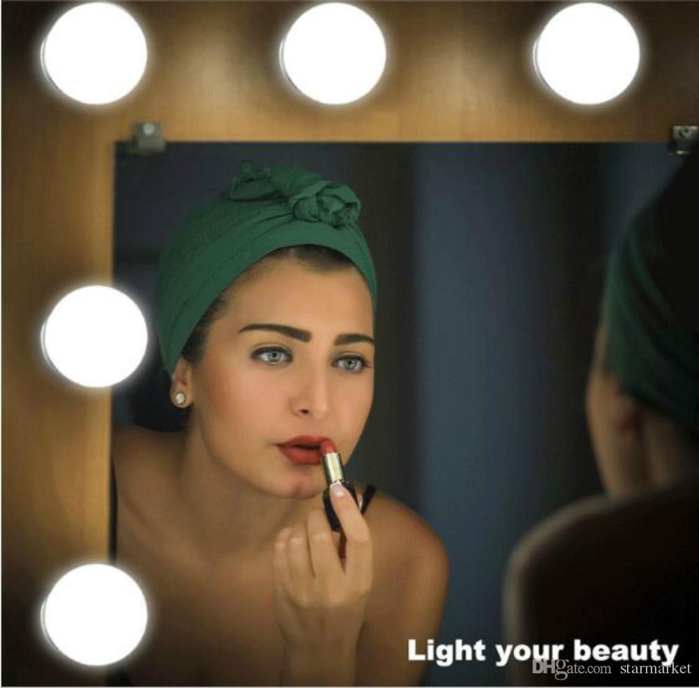 3.3M 6/8/10 Dimmable Bulbs Linkable Makeup Mirror Light Kits Hollywood Style LED Vanity Mirror Lights for Dressing Table, Cosmetic, Bathroom