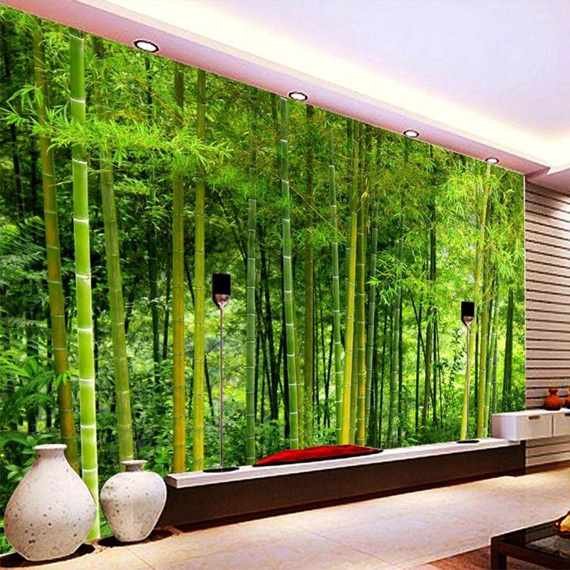 Großhandel Neueste Hochwertige Bambus Tapeten Wohnzimmer TV Sofa ...