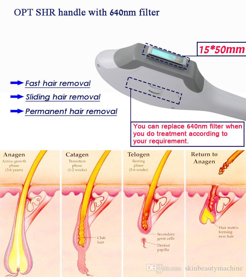 Professional Eight Ipl Skin Rejuvenation Machine Ipl Laser Acne Treatment 7 Filters Fast Hair Removal IPL Shr Machine For Salon Spa Use