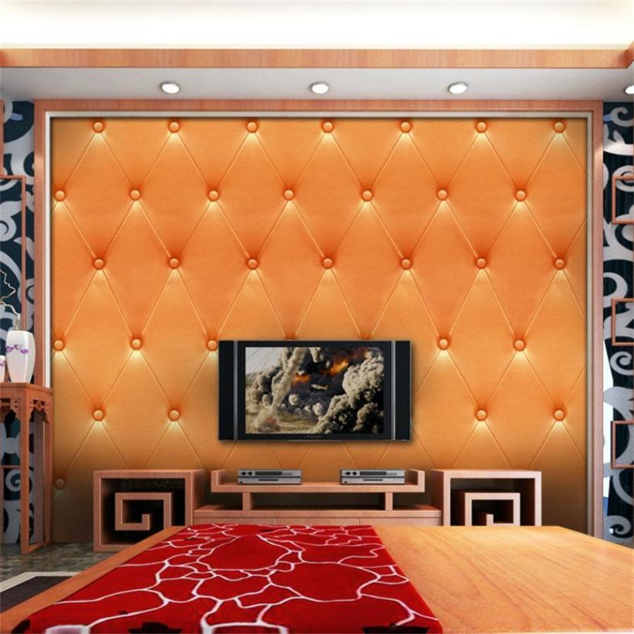 Acheter 3D Vintage Cuir Texture Papier Peint PVC Murale Look Realiste Etanche Simulation TV Wall Sticker YL De 2534 Du Olgar