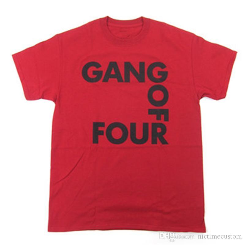 New Fashion Cool Designer UK Band Singer Gang of Four T-shirts ,Rapper Hip Hop Harajuku Fans,Unisex