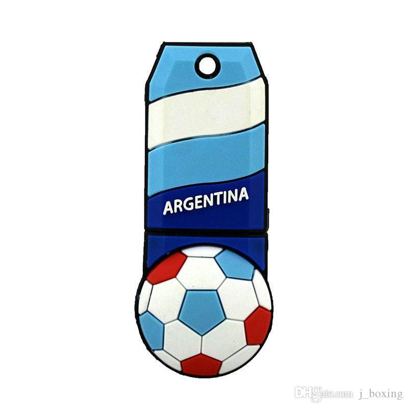 Чемпионат мира по футболу 2018 года футбол флаг 32 ГБ USB флэш-накопители футбол сборная болельщиков подарок для ноутбука ноутбук Macbook Memory Stick