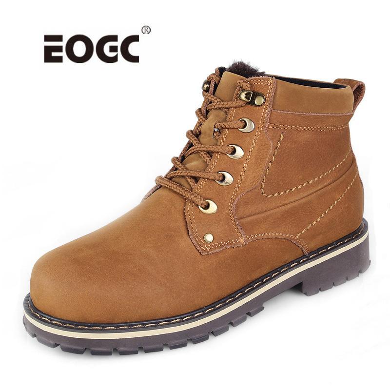 Großhandel Volles Echtes Leder Männer Stiefel Plus Größe Top Qualität  Schnee Stiefel Hohe Qualität Männer Knöchel Wasserdicht Winter Schuhe Von  Amoyshoes, ... a2aa026c7d